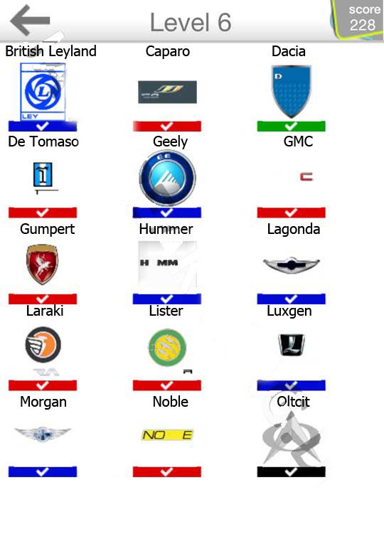 kody do gier logo quiz samochody cars odpowiedzi