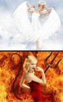 anioł diabeł