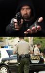 bandyta policjant